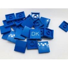 Legotegel 2x2 Blauw - Graveren en tekst ingekleurd