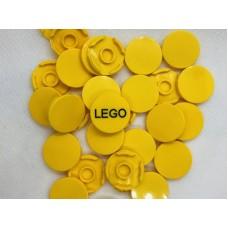 Legotegel 2x2 Geel (rond) - Graveren en tekst ingekleurd