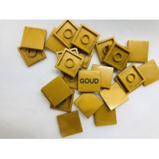 Legotegel 2x2 Goud - Graveren en tekst ingekleurd
