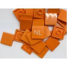 Legotegel 2x2 Oranje - Graveren en tekst ingekleurd