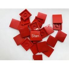 Legotegel 2x2 Rood - Graveren en tekst ingekleurd