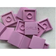 Legotegel 2x2 Roze - Graveren en tekst ingekleurd