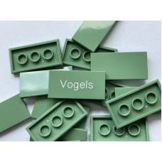 Legotegel 2x4 Groen (olijf) - Graveren en tekst ingekleurd