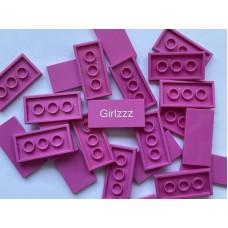 Legotegel 2x4 Roze - Graveren en tekst ingekleurd