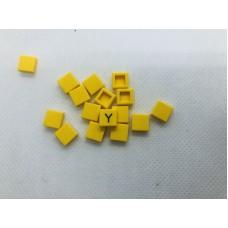 Legotegel 1x1 Geel - Graveren en tekst ingekleurd