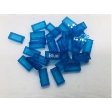 Legotegel 1x2 Blauw (doorzichtig) - Graveren en tekst ingekleurd
