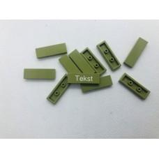 Legotegel 1x3 Groen (leger) - Graveren en tekst ingekleurd