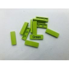Legotegel 1x3 Groen (licht) - Graveren en tekst ingekleurd