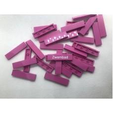 Legotegel 1x4 Roze - Graveren en tekst ingekleurd