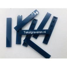 Legotegel 1x6 Blauw (donker) - Graveren en tekst ingekleurd