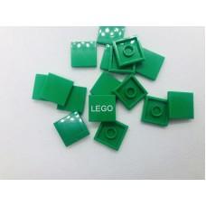 Legotegel 2x2 Groen - Graveren en tekst ingekleurd